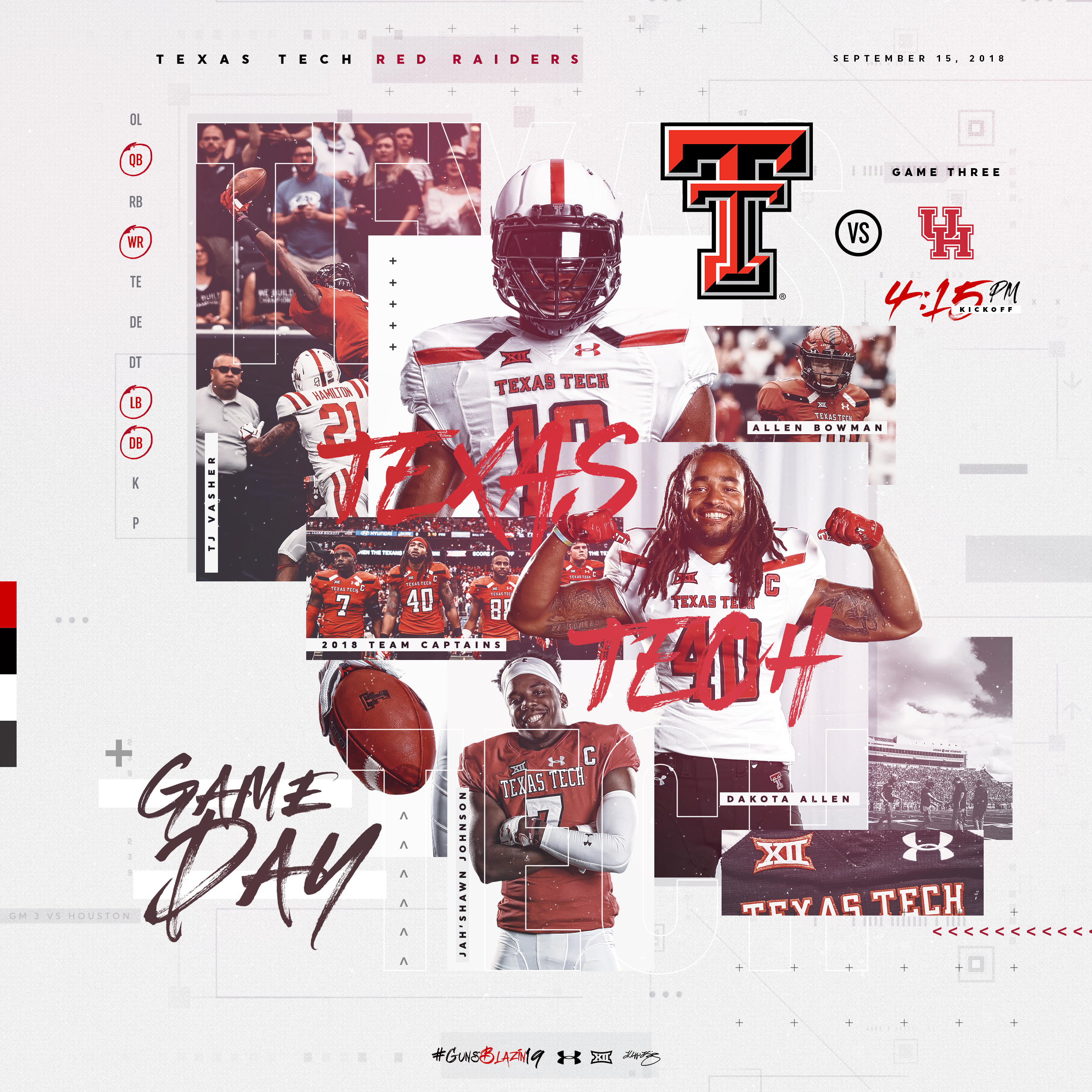 Texas Tech Football Game Day Template