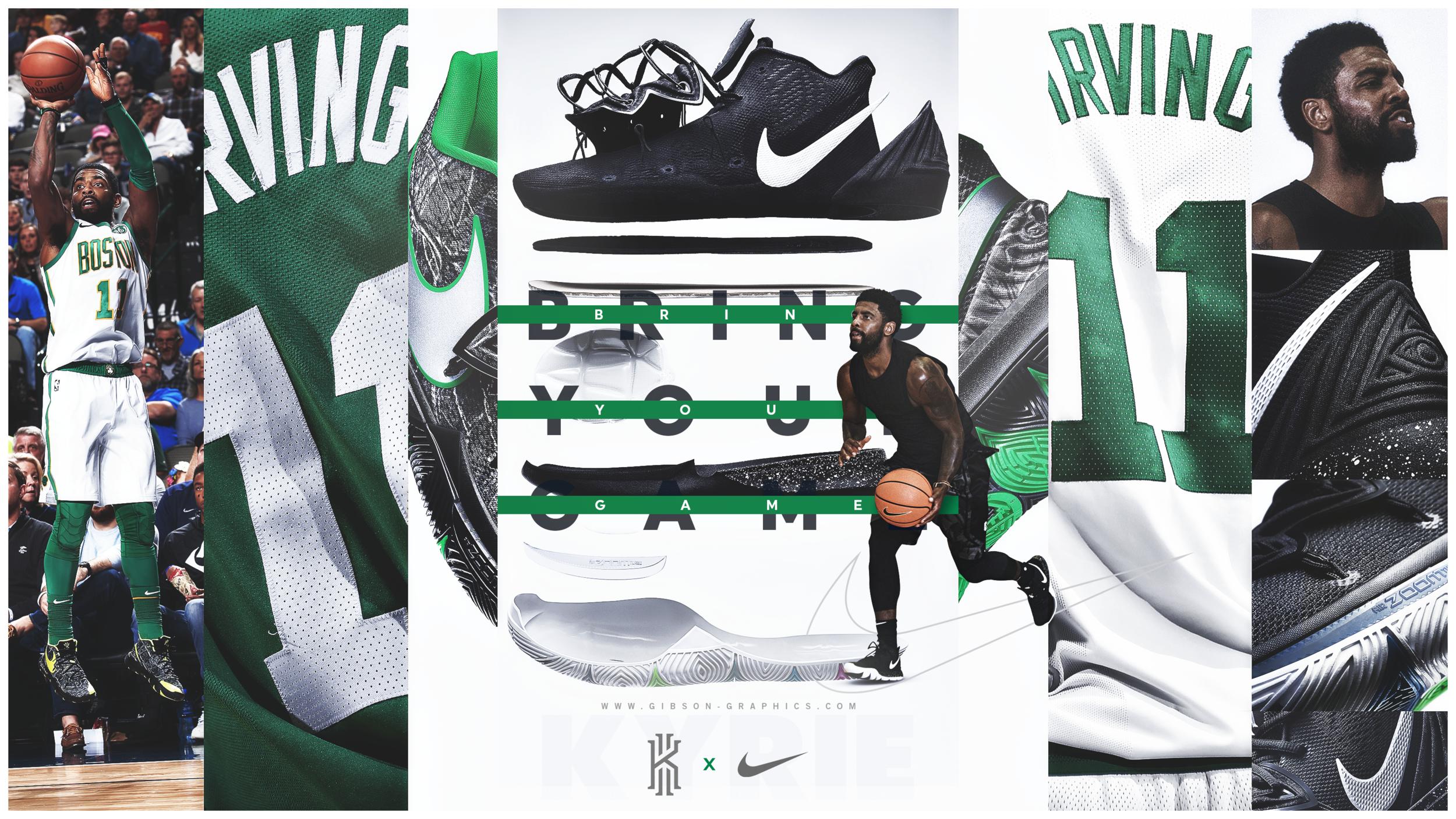 Boston Celtics Kyrie 5 Shoe Graphic