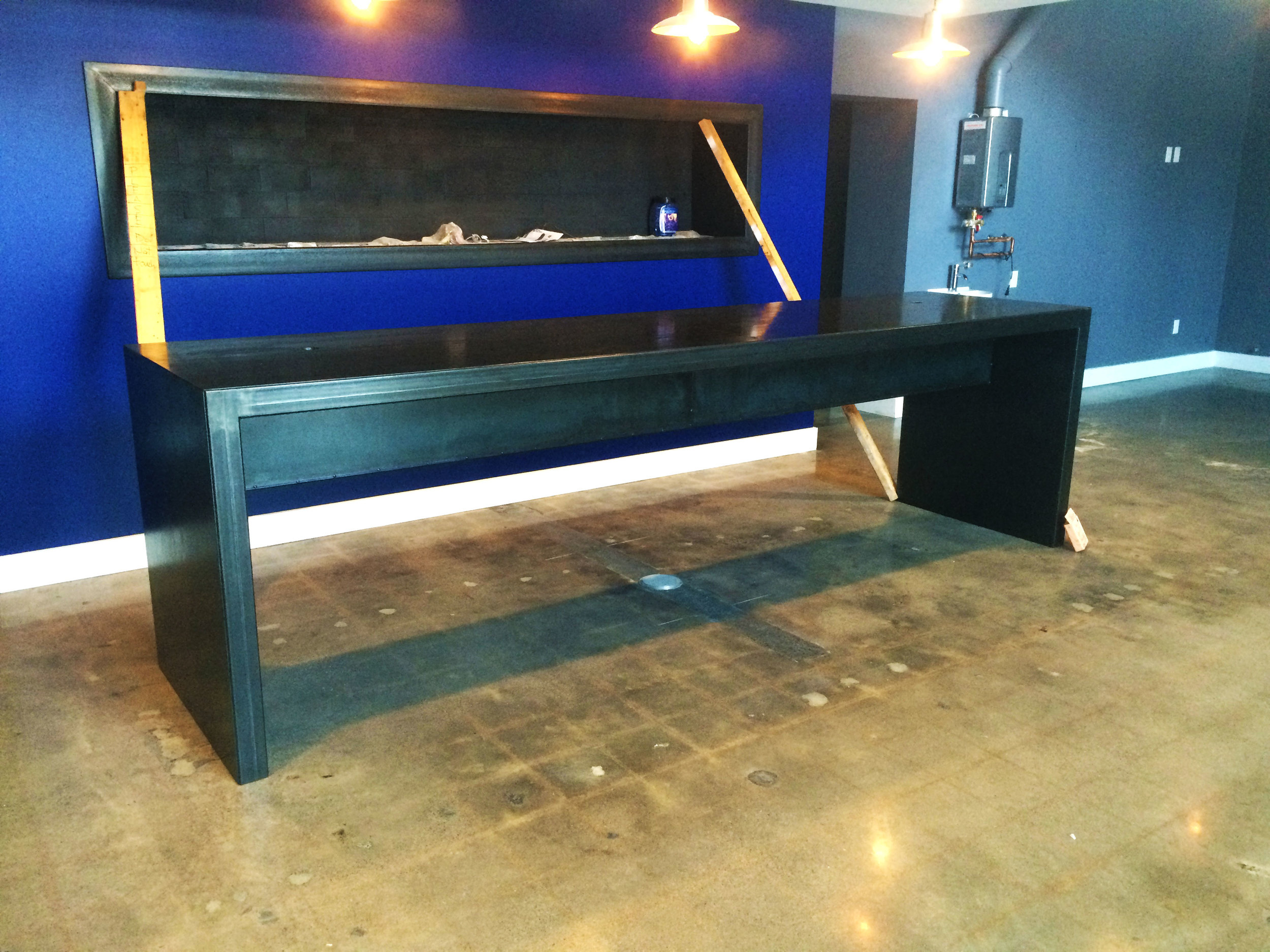 Modern steel conference table