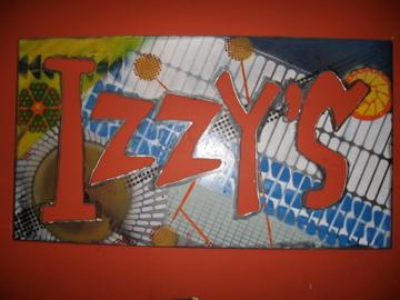Custom stencil painted steel sign