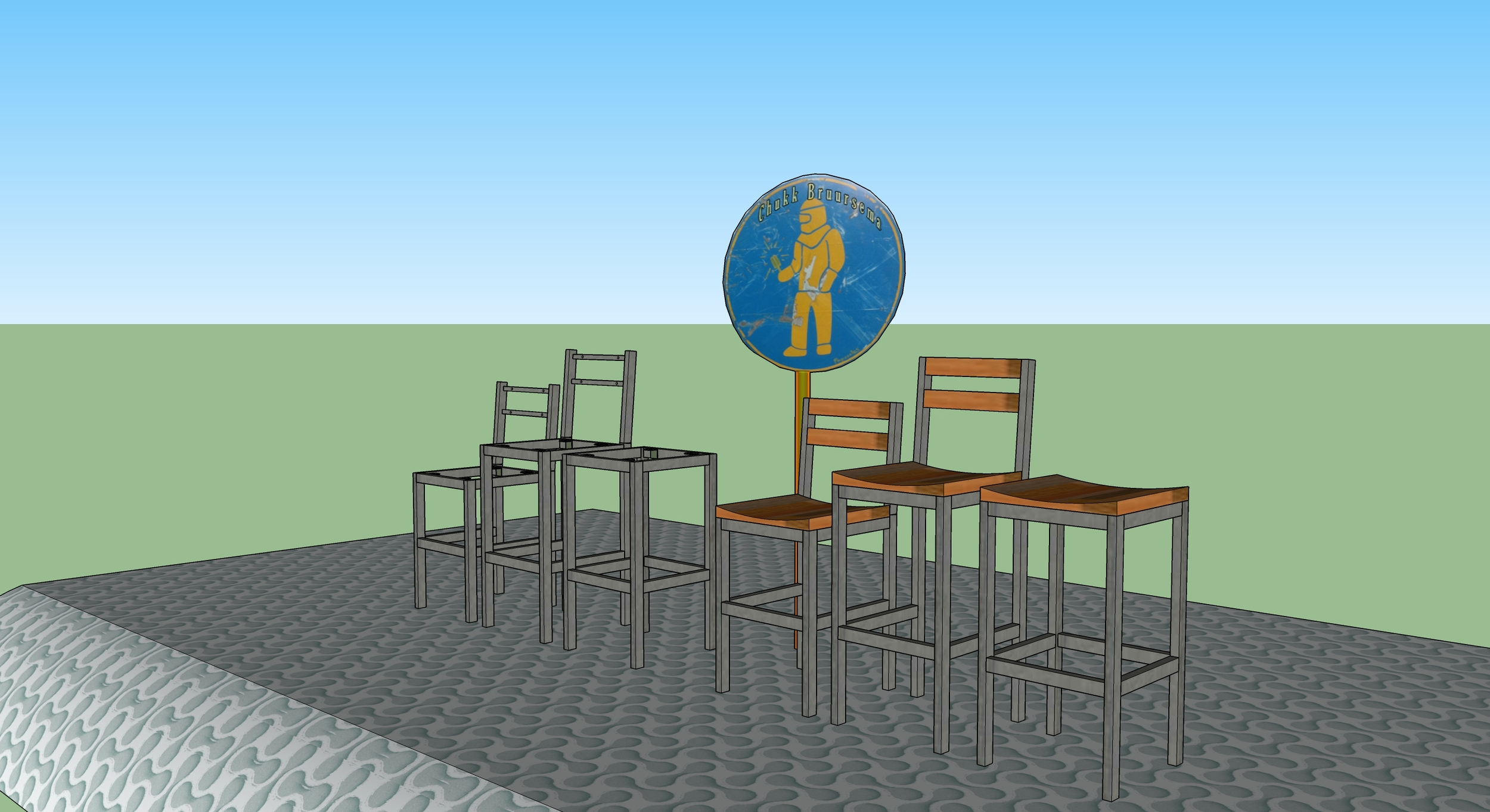Custom bar stool design