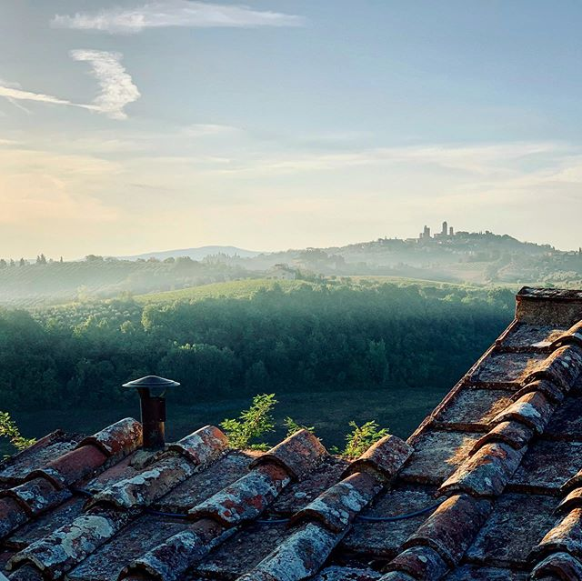 Good morning San Gimignano!  Off to Florence for the day!
