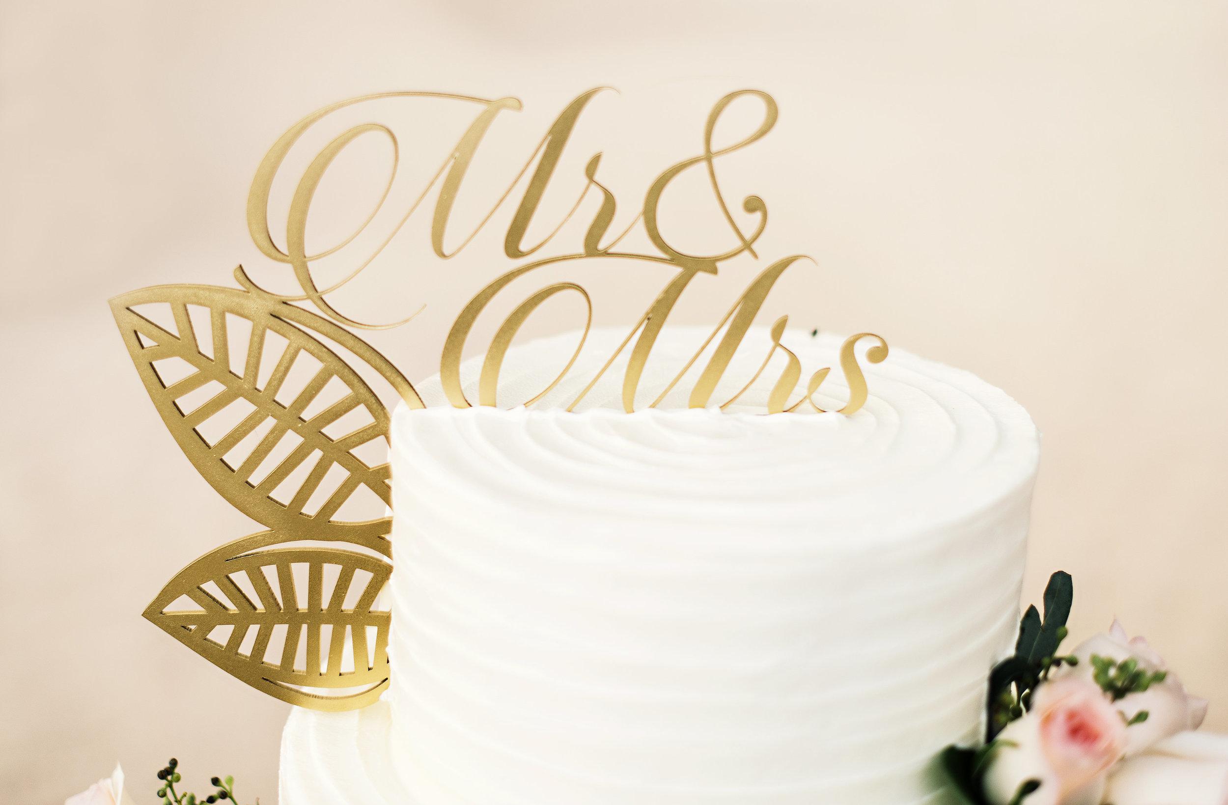 Gold Acrylic Cake Topper
