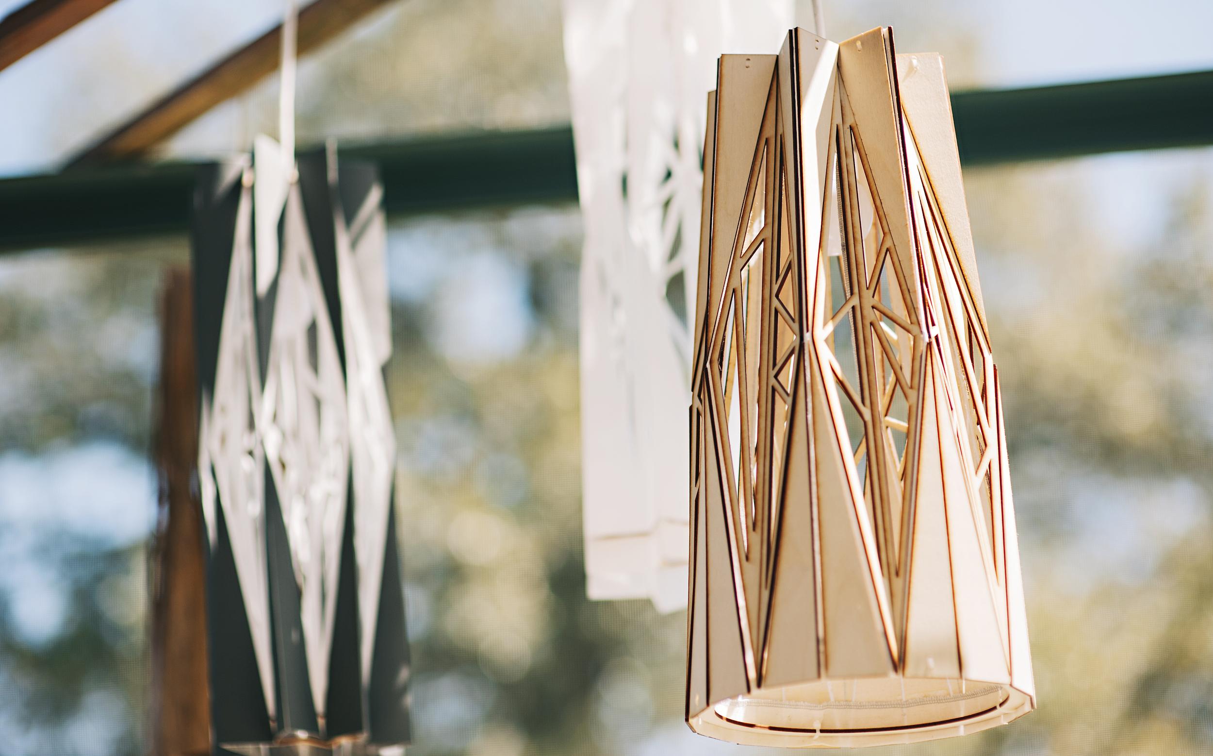 Wooden + Paper Lanterns