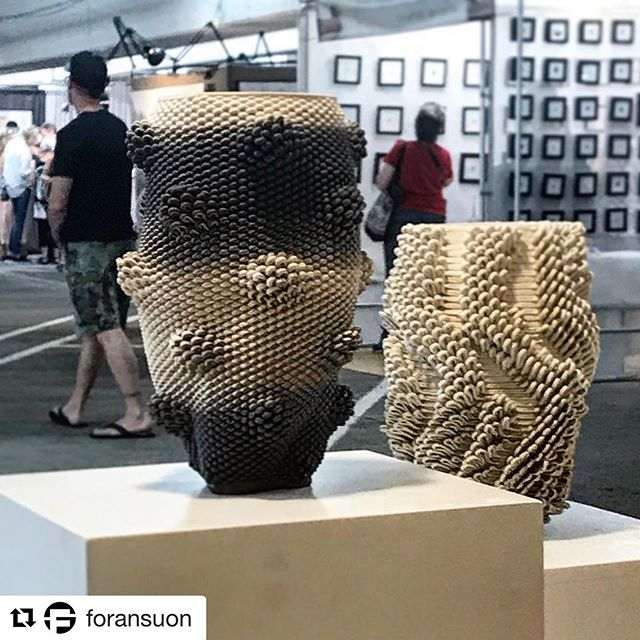 #Repost @foransuon with @get_repost ・・・ So fine ❤️ Loving the neutral vibes of our contemporary fine art vessels. Available now @bellevueartsmuseum Fair. @p__rak @jacobforan  #bellevueartsfair #bellevueartsmuseum #foransuon