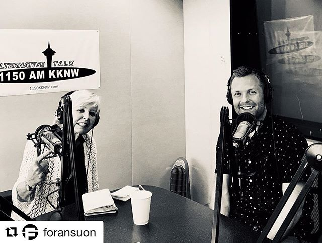 #Repost @foransuon with @get_repost ・・・ Hello from the 1150 am kknw studio! This is Jacob from ForanSuon and I had the honor of being interviewed by wonderful Pat Pauly on her show, ArtBeat Northwest. Listen today at 5pm (drive time)  as Pat and I talk about the company, 3D printing , Sculpture, and the broader scope of my body of work as an artist . . . .  #artbeatnorthwest #1150amkknw #artradio #3dprinting #foransuon #seattleart #northwestcreatives #seattledesign