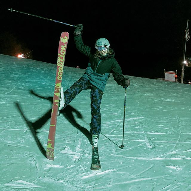 Ladies ski night under a full moon! #skitheeast #shredthepatriarchy #beastcoast #sendit #greekpeak