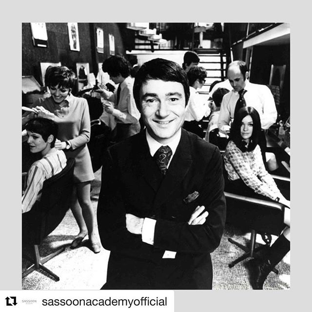 The most famous hairdresser in the world!  #Repost @sassoonacademyofficial with @get_repost ・・・ . 🖤 REMEMBERING VIDAL 🖤 . Today the iconic Vidal Sassoon would have been 91. . Rarely do we encounter someone who had the profound impact that Vidal had on the industry. Everyone can learn from the courage and single-minded vision he displayed throughout his life. . Vidal Sassoon, CBE 17 Jan 1928 – 9 May 2012 . . #legend #icon #inspiration #vidalsassoon #rememberingvidal #vidaltheman #hair #iconic #idol