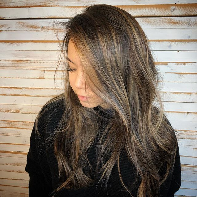 Beautiful balayage on @caseyalisha , done by our talented @arykamichellehair