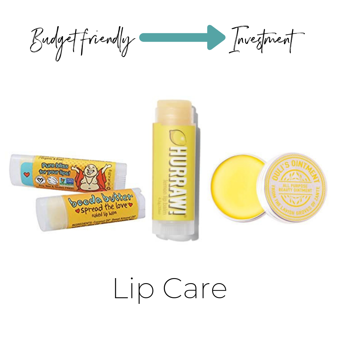Booda Butter Chap stick $4    Not listed on ThinkDirty (what I personally use)     HURRAW Lip Balm $4    ThinkDirty 3     Ouli's Ointment $20    Not listed on ThinkDirty