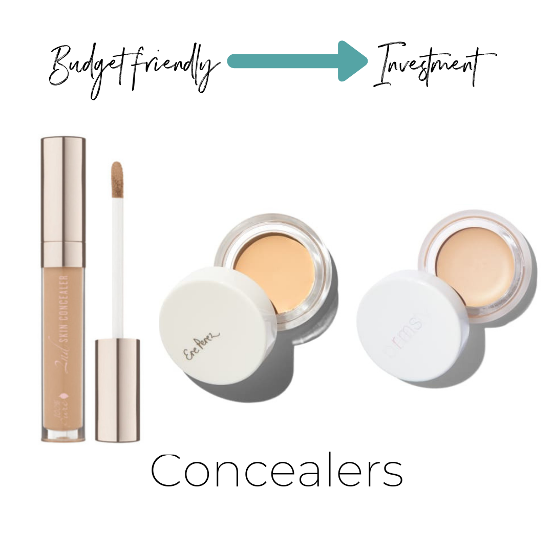 """100% Pure 2nd Skin Concealer $25    ThinkDirty 1     Ere Perez Arnica Concealer $28    Not listed on ThinkDirty     RMS Beauty """"Un"""" Cover-Up $36    ThinkDirty 3"""