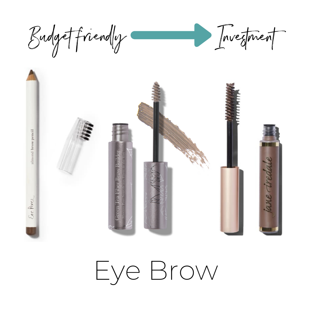 Ere Perez Eye Brow Pencil $21    Not listed on ThinkDirty     100% Pure Green Tea Fiber Brow Builder $23    ThinkDirty 1     Jane Iredale PureBrow Brow Gel $24    Not listed on ThinkDirty