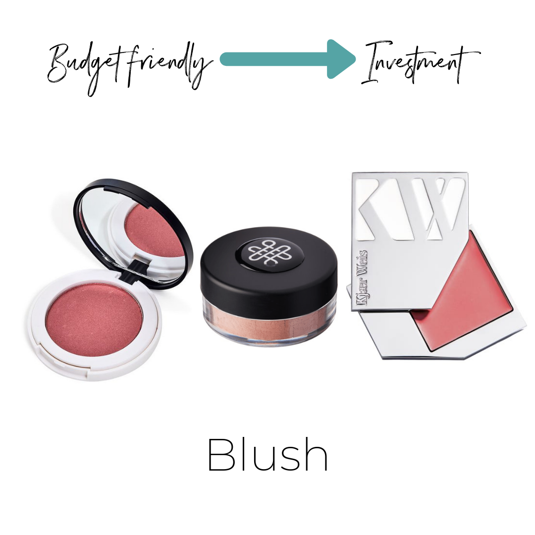 Lily Lolo Mineral Blush $20 (contains mica)    ThinkDirty 3     Omiana Loose Blush $29 (mica free)    Not listed on ThinkDirty     Kjaer Weis Cream Blush $56    (mica free) Not listed on ThinkDirty