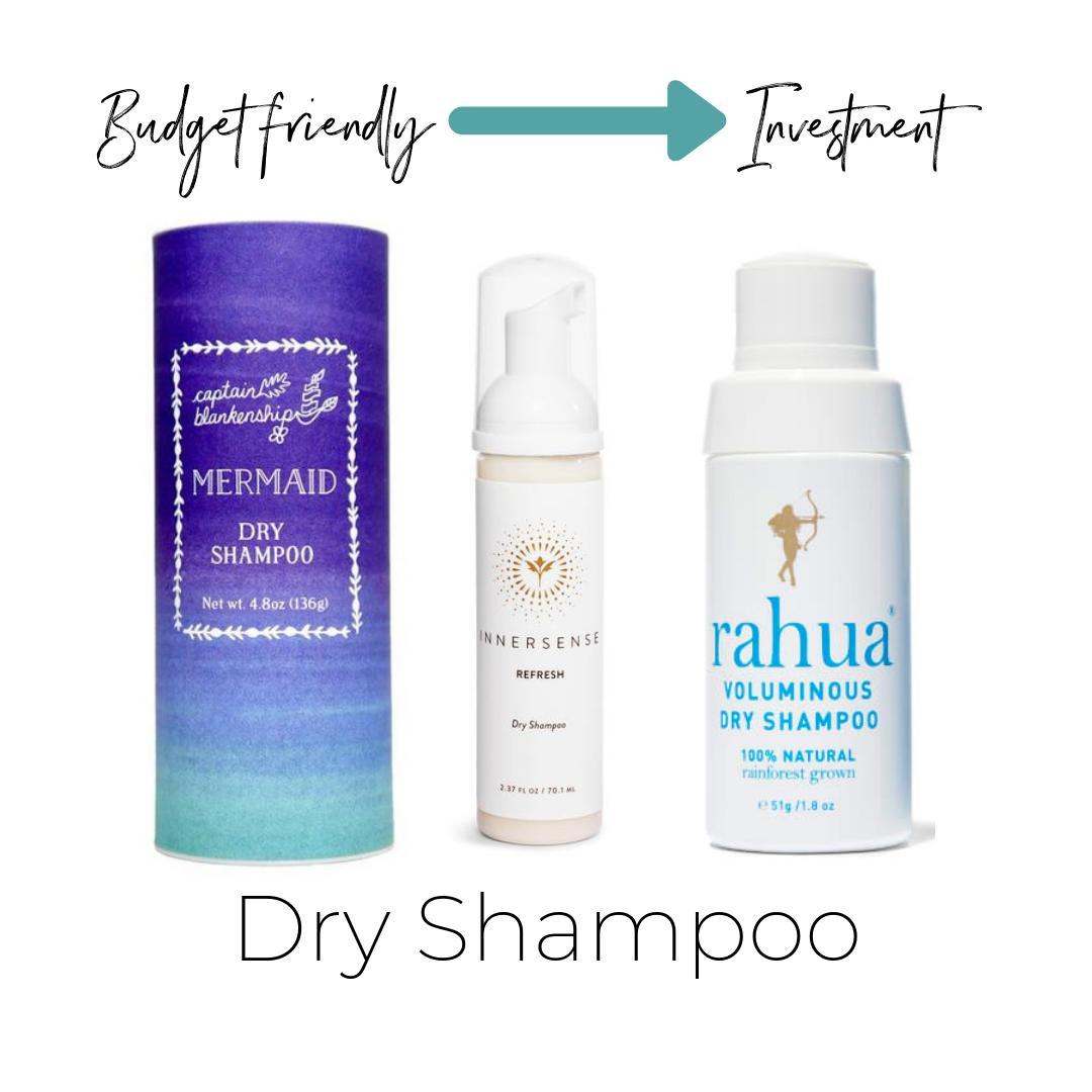 Dry Shampoo     Mermaid Dry Shampoo $16    Not listed on ThinkDirty     Innersense Refresh Dry Shampoo $24    ThinkDirty 0     Rahua Voluminous Dry Shampoo $32    Not listed on ThinkDirty