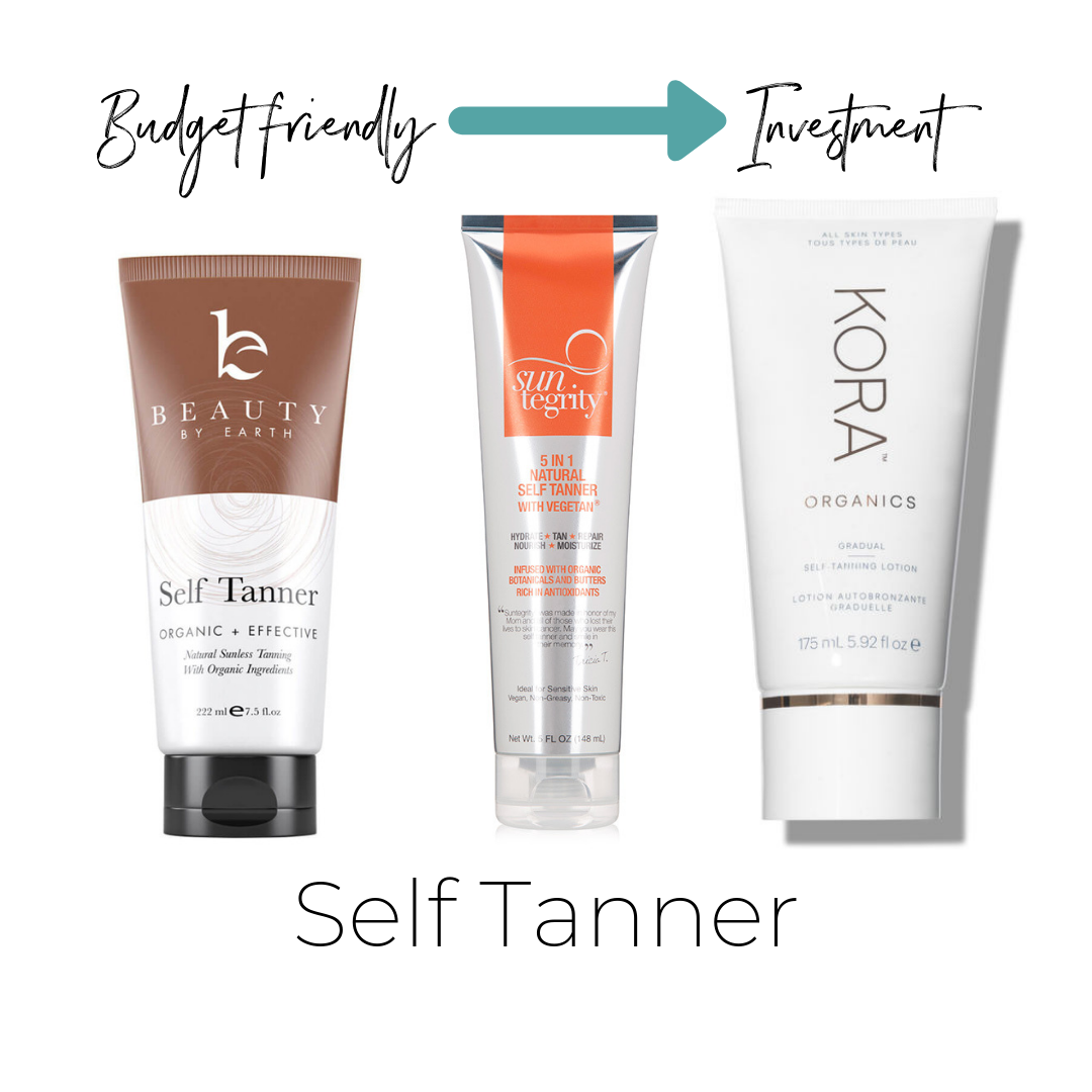 Not listed on ThinkDirty     Beauty by Earth Self Tanner $28      Suntegrity 5 In 1 Natural Self Tanner $36      Kora Self Tanner $48