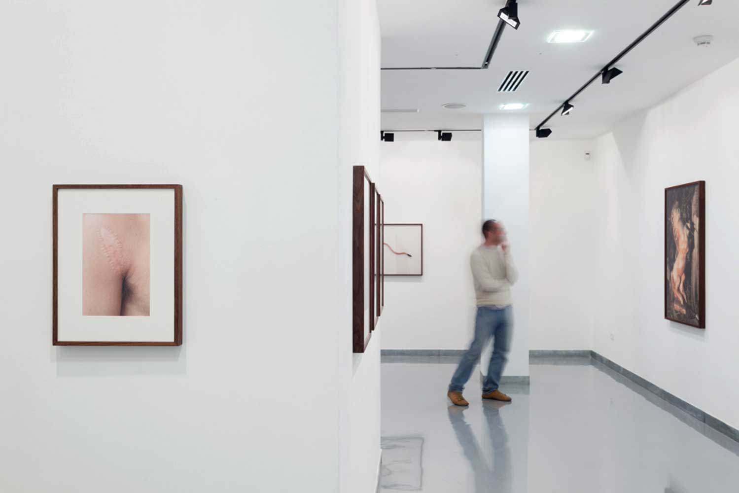 """Combinations and deflections extract a new and surprising power from the found objects, but at the same time, the photographs do not conceal their origins   To Liat Lavi text on """"Lev Talpiot"""" Exhibition   Photo: Ariel Caine"""