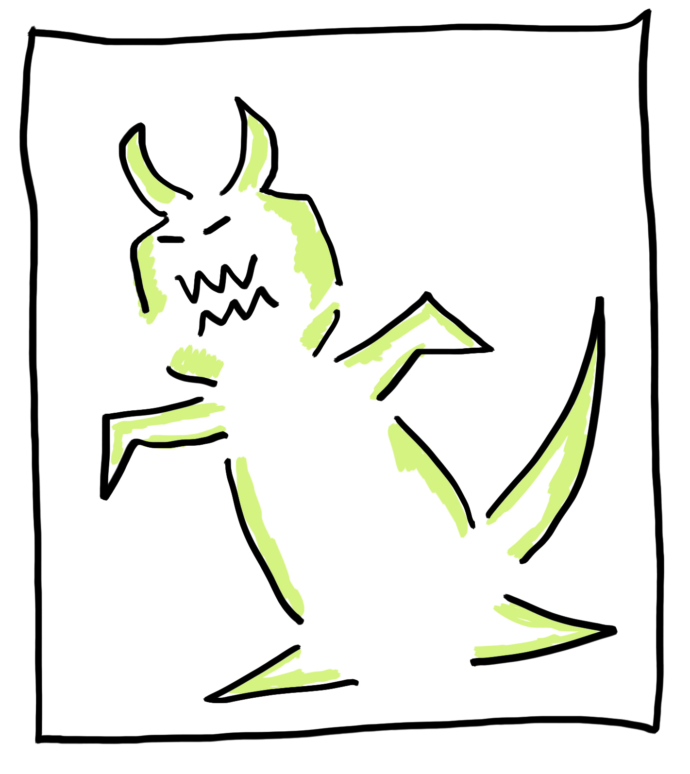 The Sunday Scaries Monster, who is actually kind of adorable.