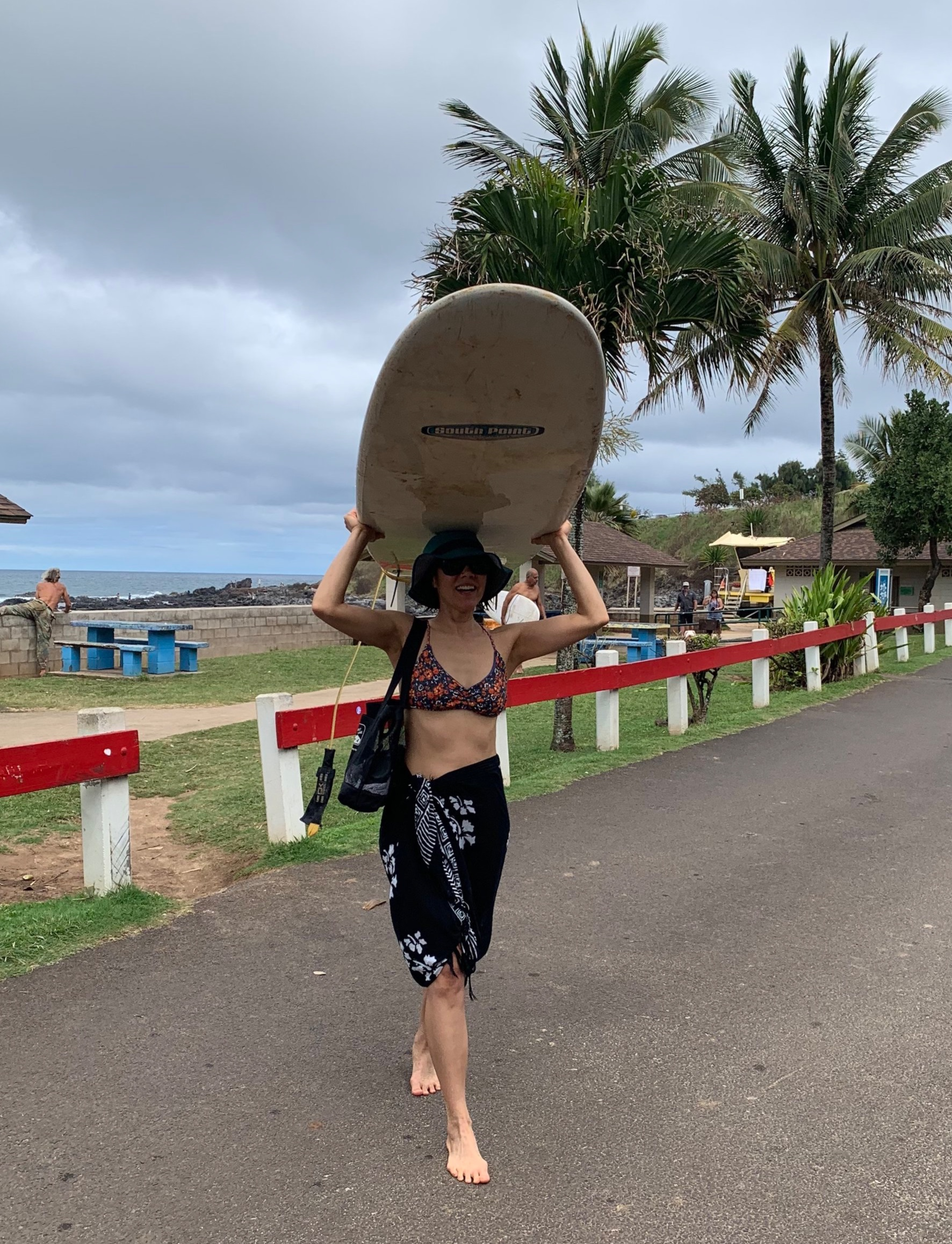 Dr. Gia after her surf stoke session! That's right, she's one of our Team Riders… Sponsored by Love The Beach Swimwear!