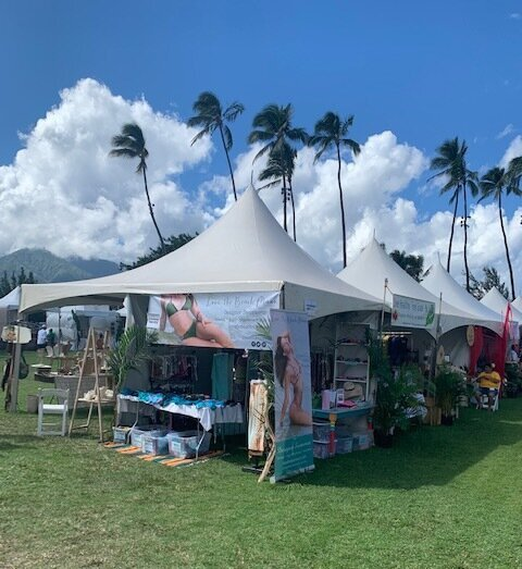 Our Made In Maui booth looks so cute!
