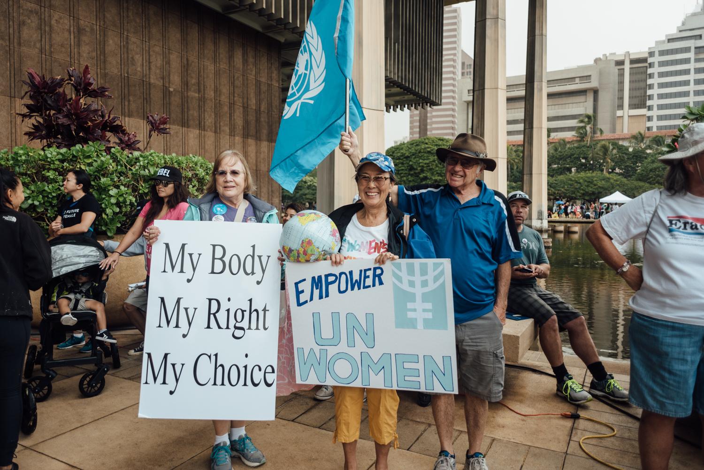 women's march oahu 2017