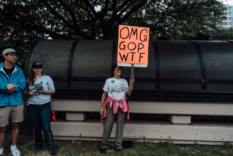 omg gop wtf women's march oahu 2017
