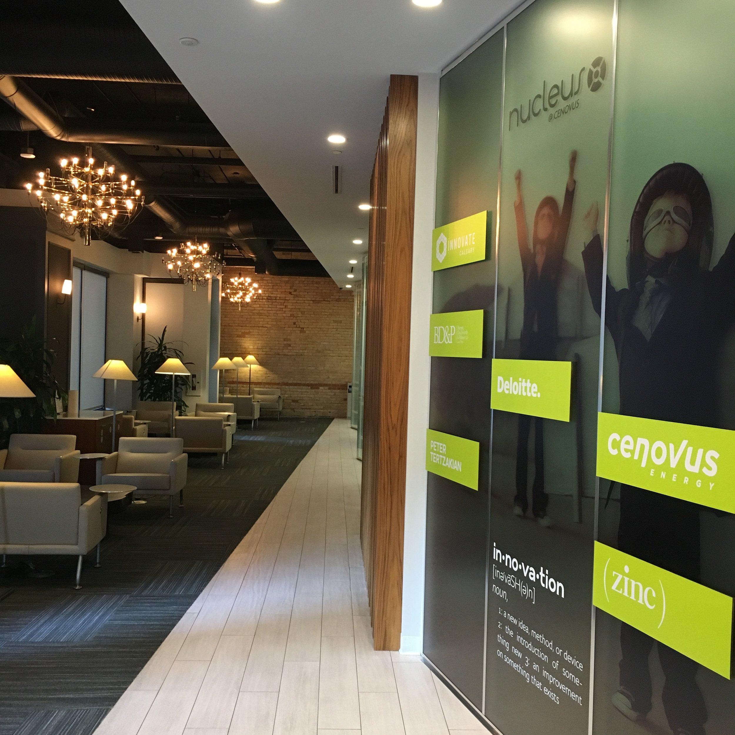 Foyer at Nucleus Calgary, sponsored by Cenovus Energy