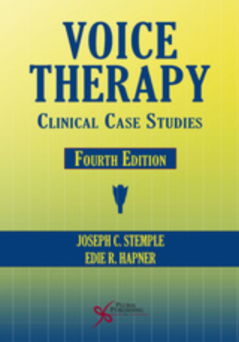 Voice Therapy: Clinical Case Studies (Stemple & Hapner) (2014, Contributing Author)  2 Cases: Case Study 4:Therapeutic Modalities for the Touring Musical Theater Vocal Athlete & Case Study 8:Treating Vocal Injury in a Physically and Vocally Demanding Performer
