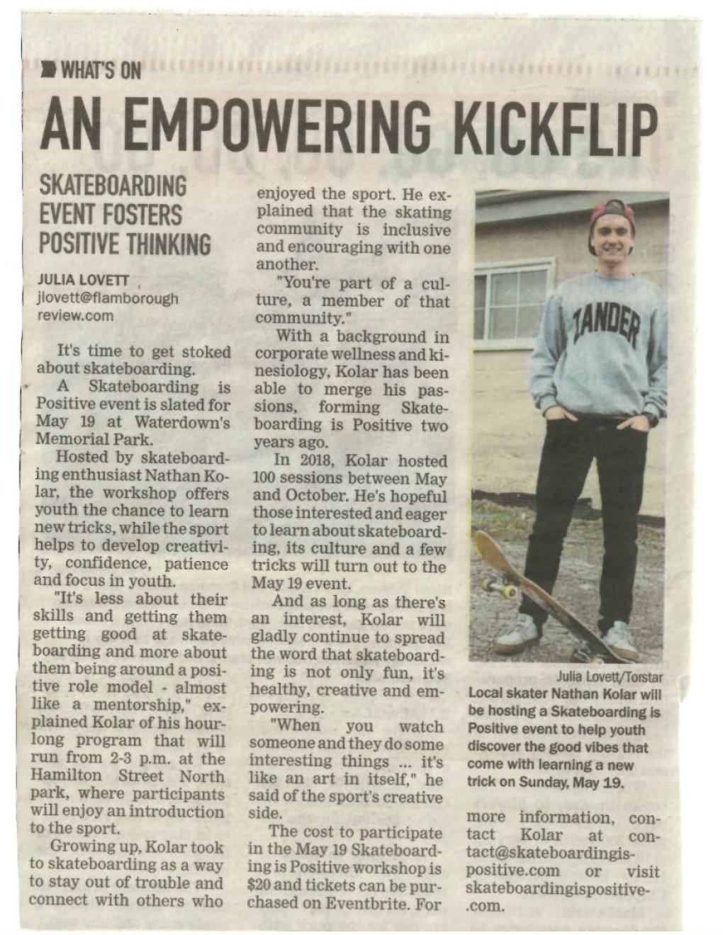 SIP in the newspaper, Flamborough Review