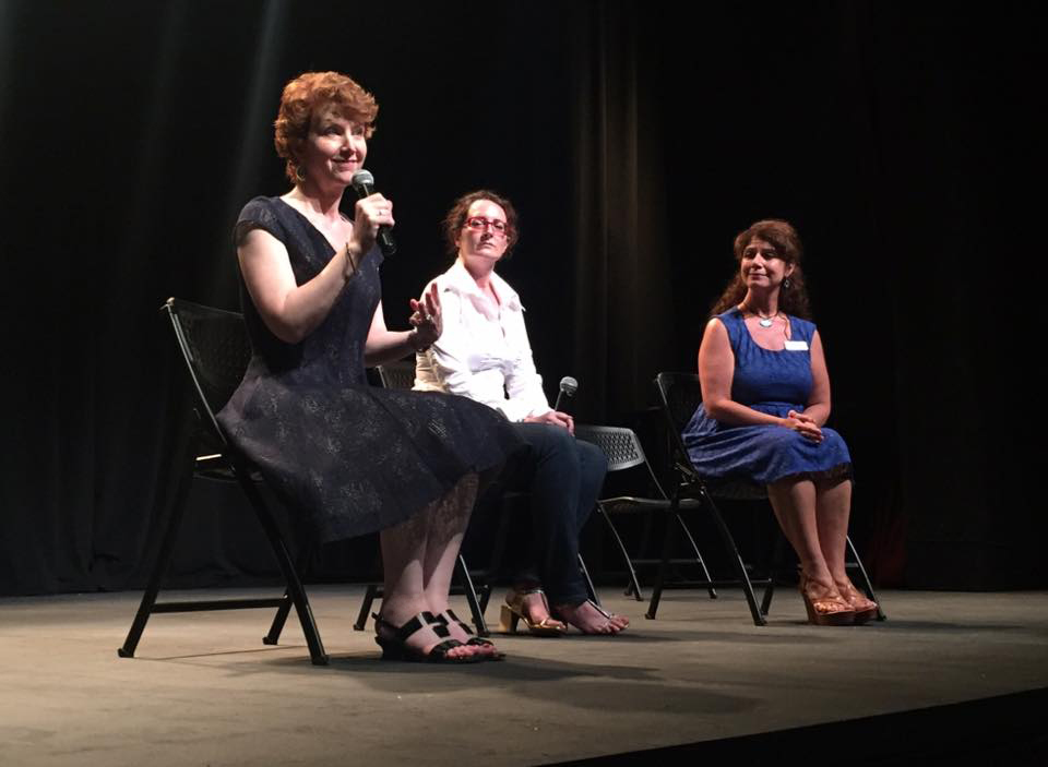 L-R: Me, Annette Trossbach (Director), and Kristen Coury (Artistic Director, Gulfshore Playhouse) at the post-reading talkback