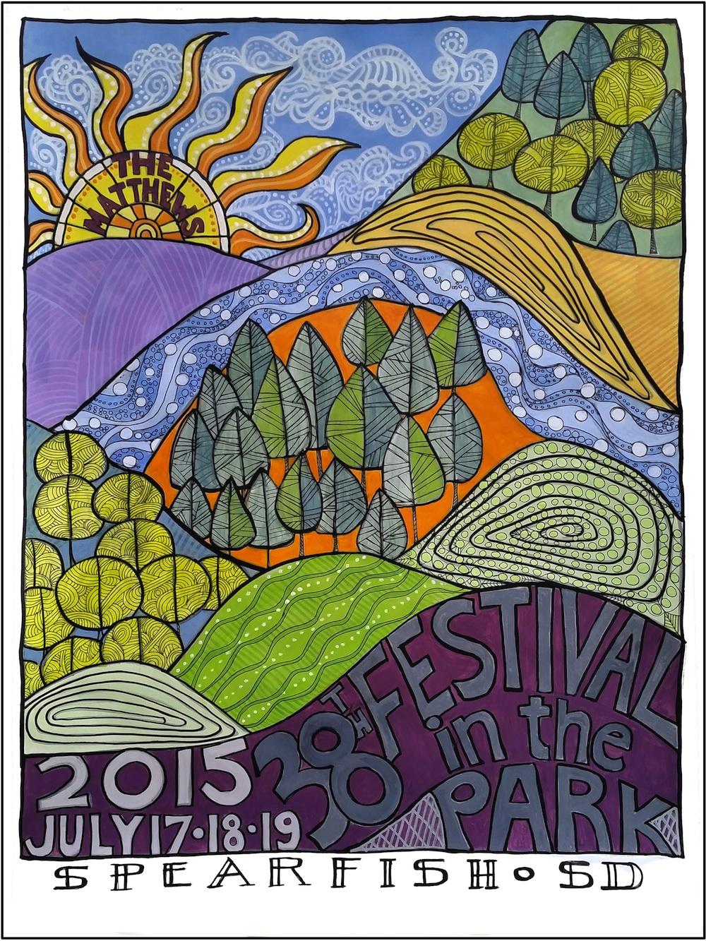 2015 Festival in the Park Commemorative Poster