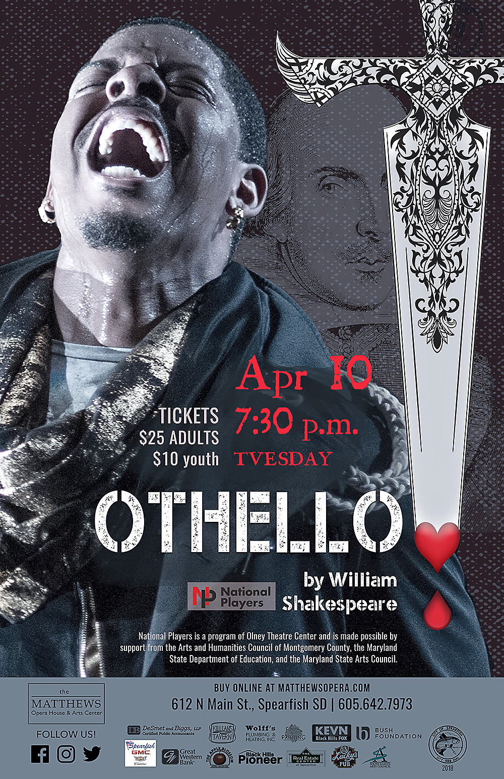 """OTHELLO poster 11"""" x 17"""" and 8.5"""" x 14"""" 4/Color"""