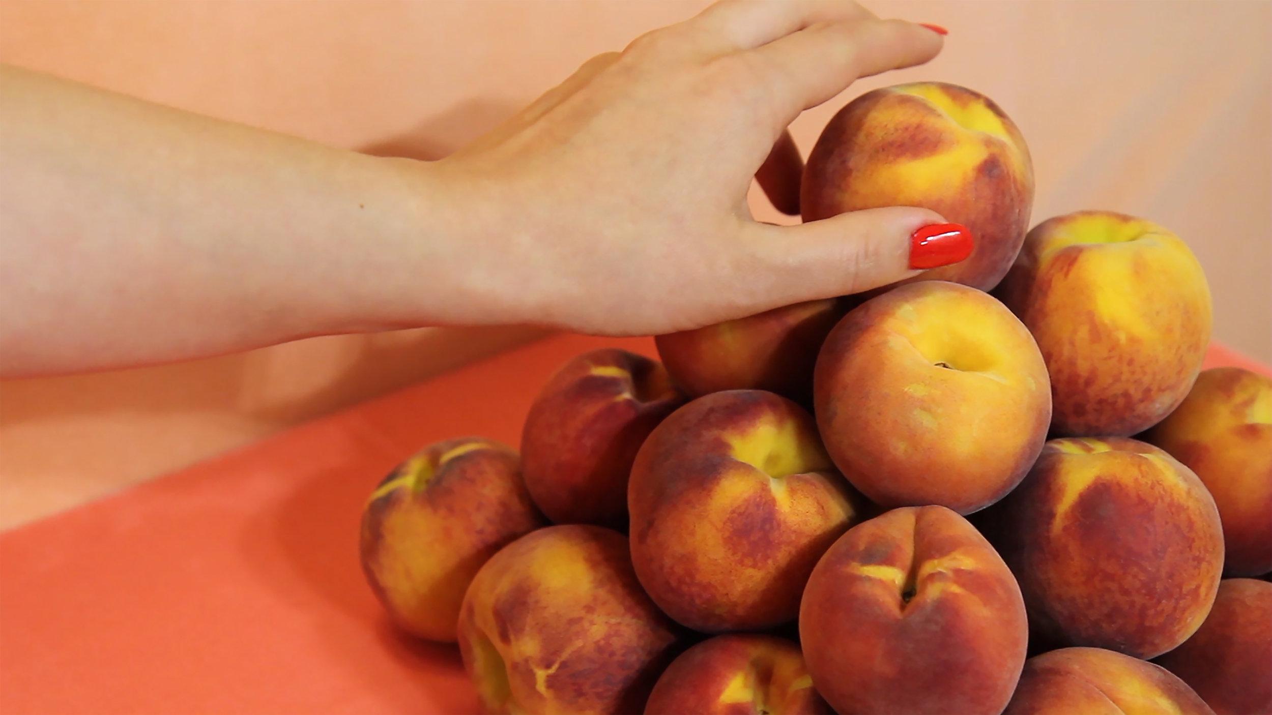 """Peach's Peaches Video Still # 4  print: 20 x 30"""", framed 21.5 x 31.5"""""""