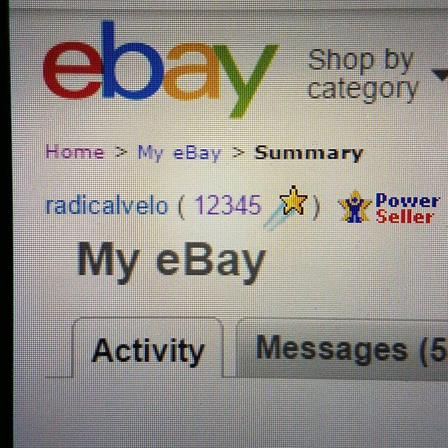 Glad to have caught this feedback score, 12345. #ebay #ebaypowerseller #positivefeedback #ebaystore