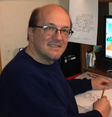 steve-smeltzer-at-desk-cartooning