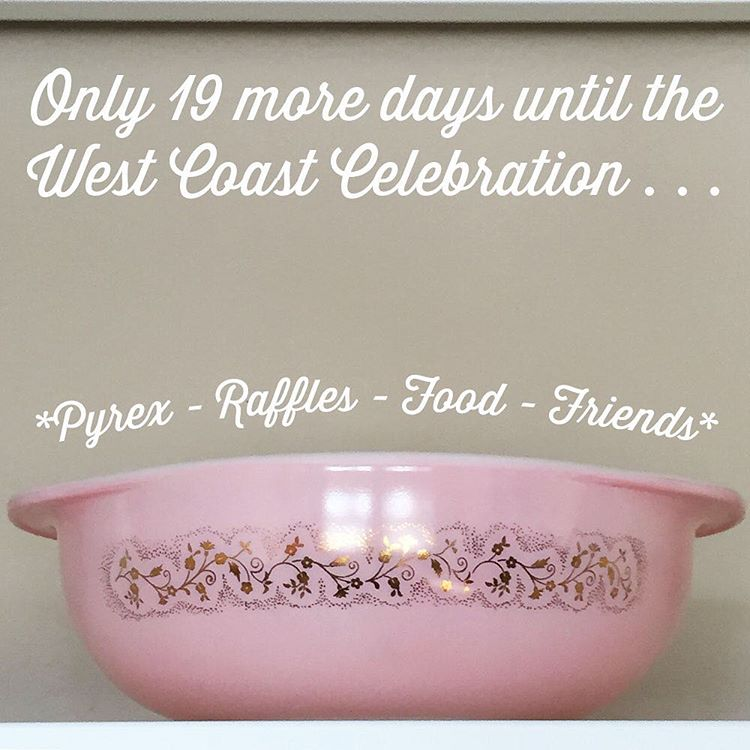 The 100th Anniversary of Pyrex West Coast celebration is almost here!  Tickets are sold out (wow!).  I can't wait to meet everyone who is attending and party down with some Pyrex!  #hotforpyrex #htfpyrex #love #100hfp #pyrex100 #pyrexlove #pyrexpassion