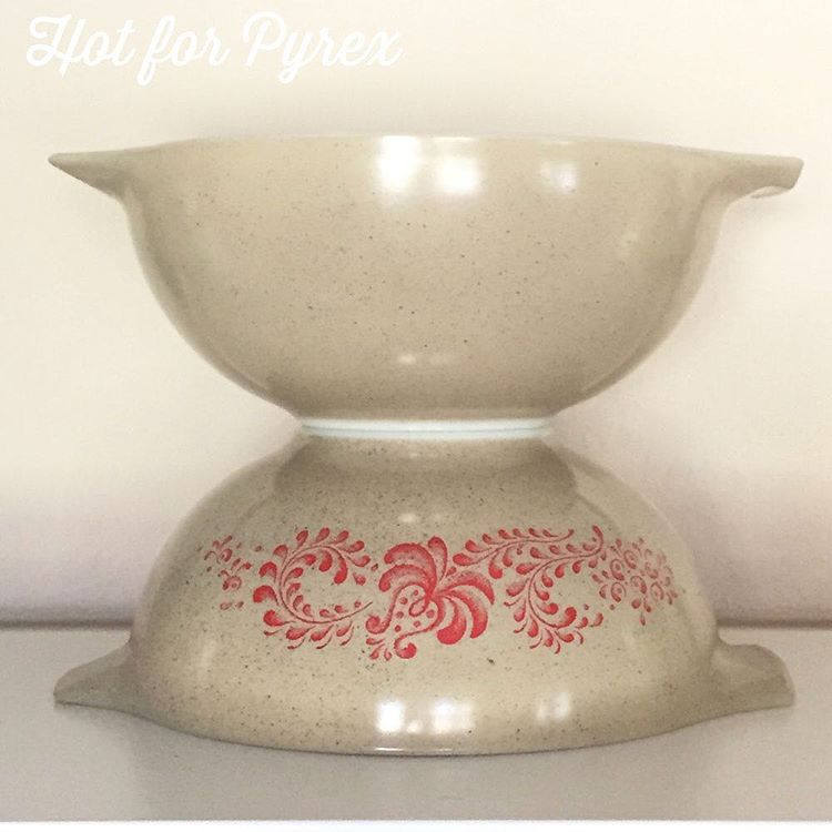 Day 76 of 100 - Several of these speckled Cinderella bowls have been found, but this is the first one I have been able to add to my collection.  I love the simplicity of this dish.  #pyrex100 #hotforpyrex #pyrexlove #pyrexpassion #htfpyrex #100hfp #love #pyrexia #pyrexaddict #pyrexporn