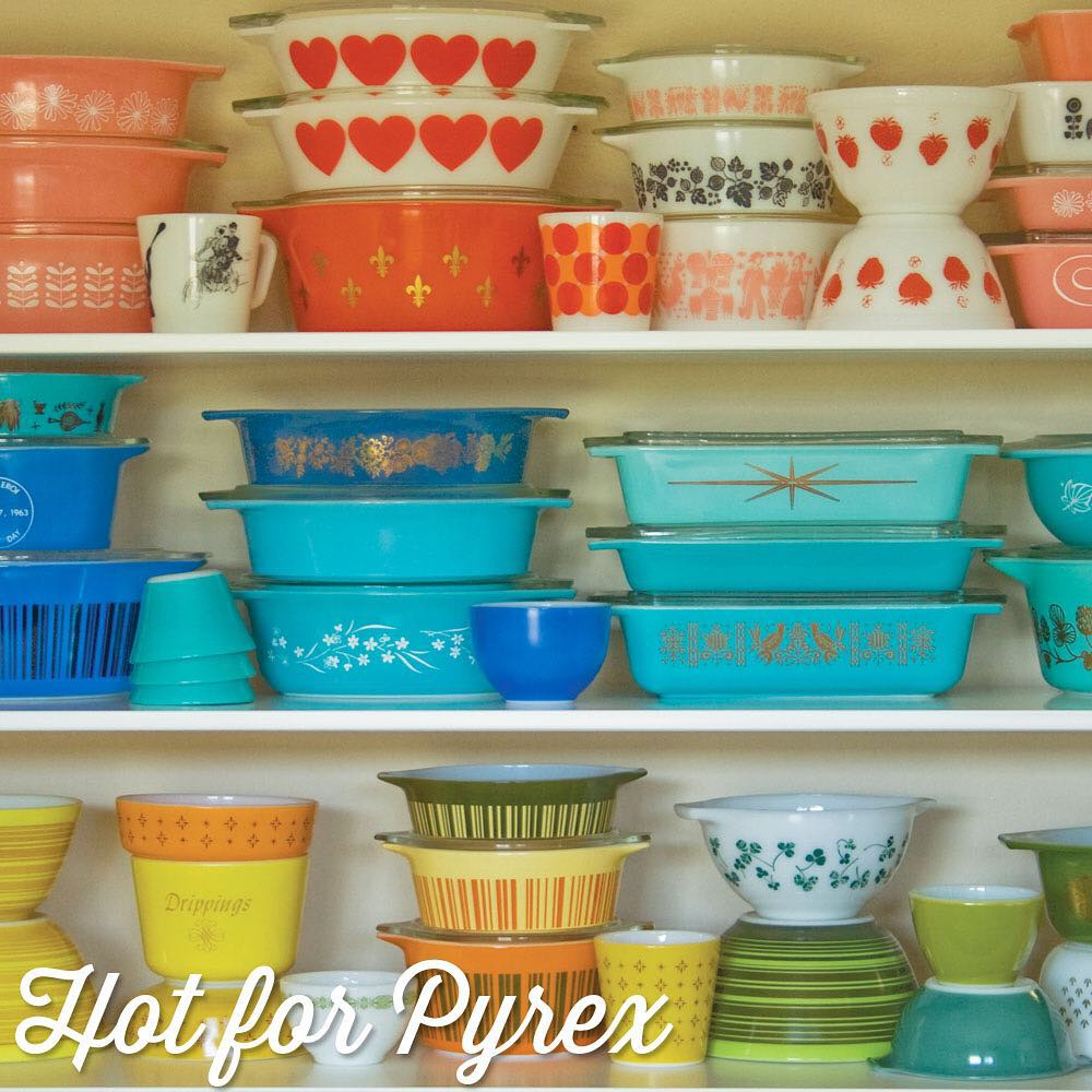 Day 64 of 100 - If you have the Hot for Pyrex guide to Rare and HTF Pyrex, then you will recognize this photo.  It was one of my favorite pictures to take.  One of the (many) reasons why I love Pyrex so much are the vibrant colors.  Seeing all these colors and patterns together makes me happy ❤️. #100hfp #hotforpyrex #pyrexporn #rarepyrex #pyrexproblems #pyrexlove #love #pyrexpassion #htfpyrex #colorwheel #pyrex100