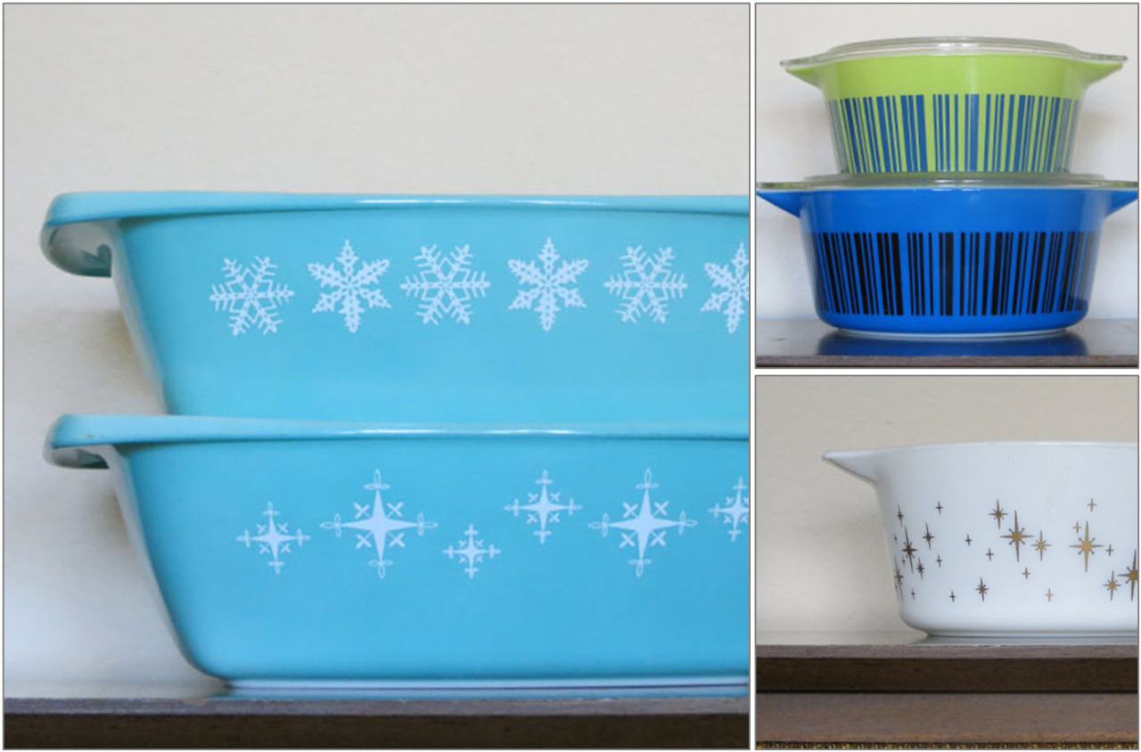 So, I am currently working on  a book about rare and hard to find Pyrex  and I want to know if there is anyone else out there who has rare Pyrex that they would like featured in the book.   The Pyrex collecting community has been AWESOME and I have had a lot of amazing submissions from people in the Facebook groups. If I didn't reach out to you, and I should have, please let me know! I want to make this book as comprehensive as possible (at least until the next rare piece is discovered).  Send me an email at hotforpyrex (at) gmail (dot) com if you want more information or have a picture to share. I always love talking to other Pyrex addicts :)