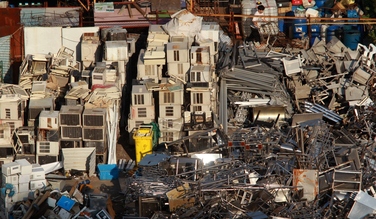 From August, sellers of old appliances in the scheme must display recycling labels on the items. Photo: Felix Wong