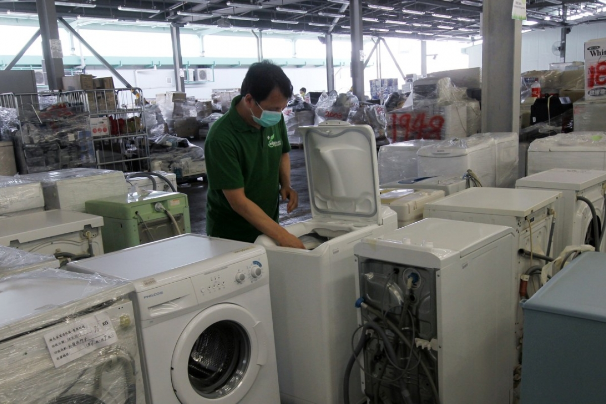 Washing machines are included in the long-awaited recycling scheme. Photo: Edward Wong