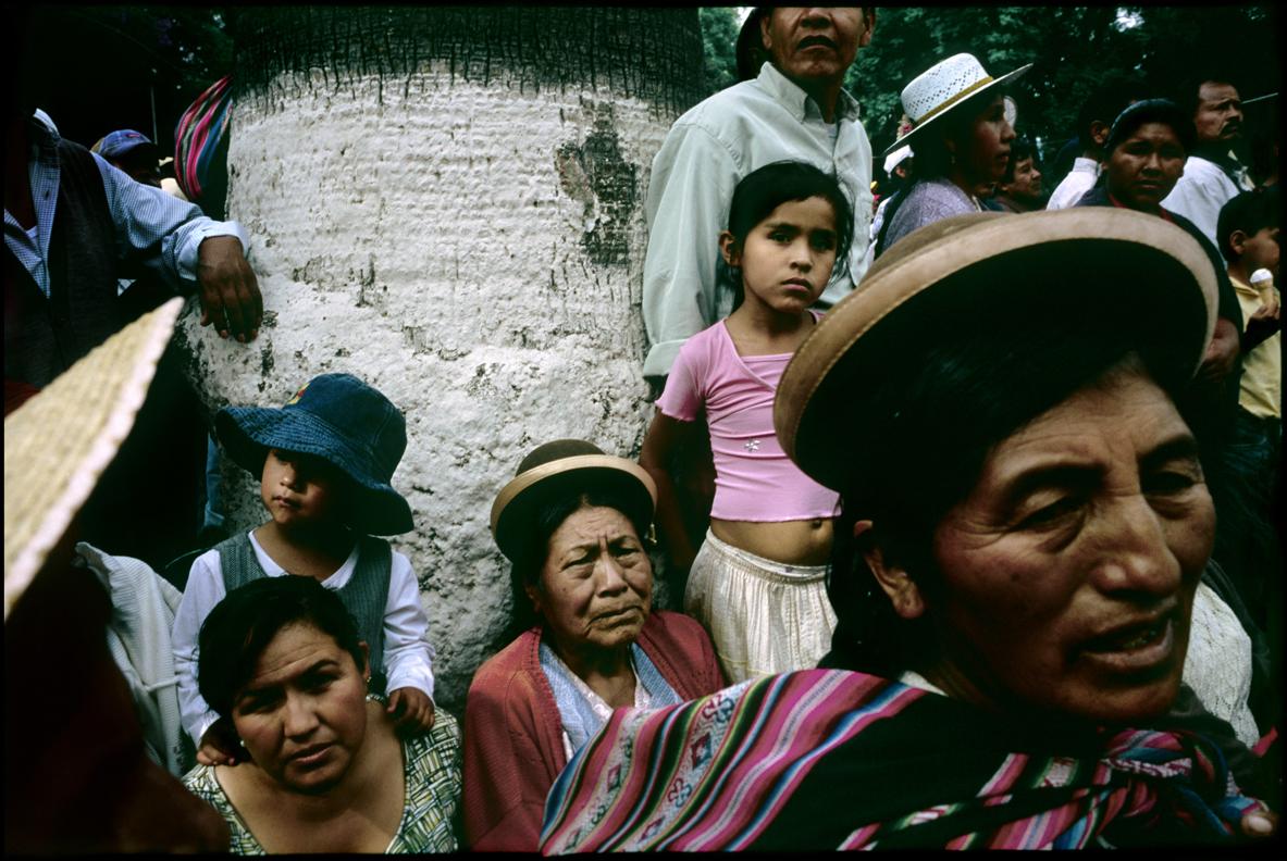 Locals at a rally in Cochabamba, Bolivia.