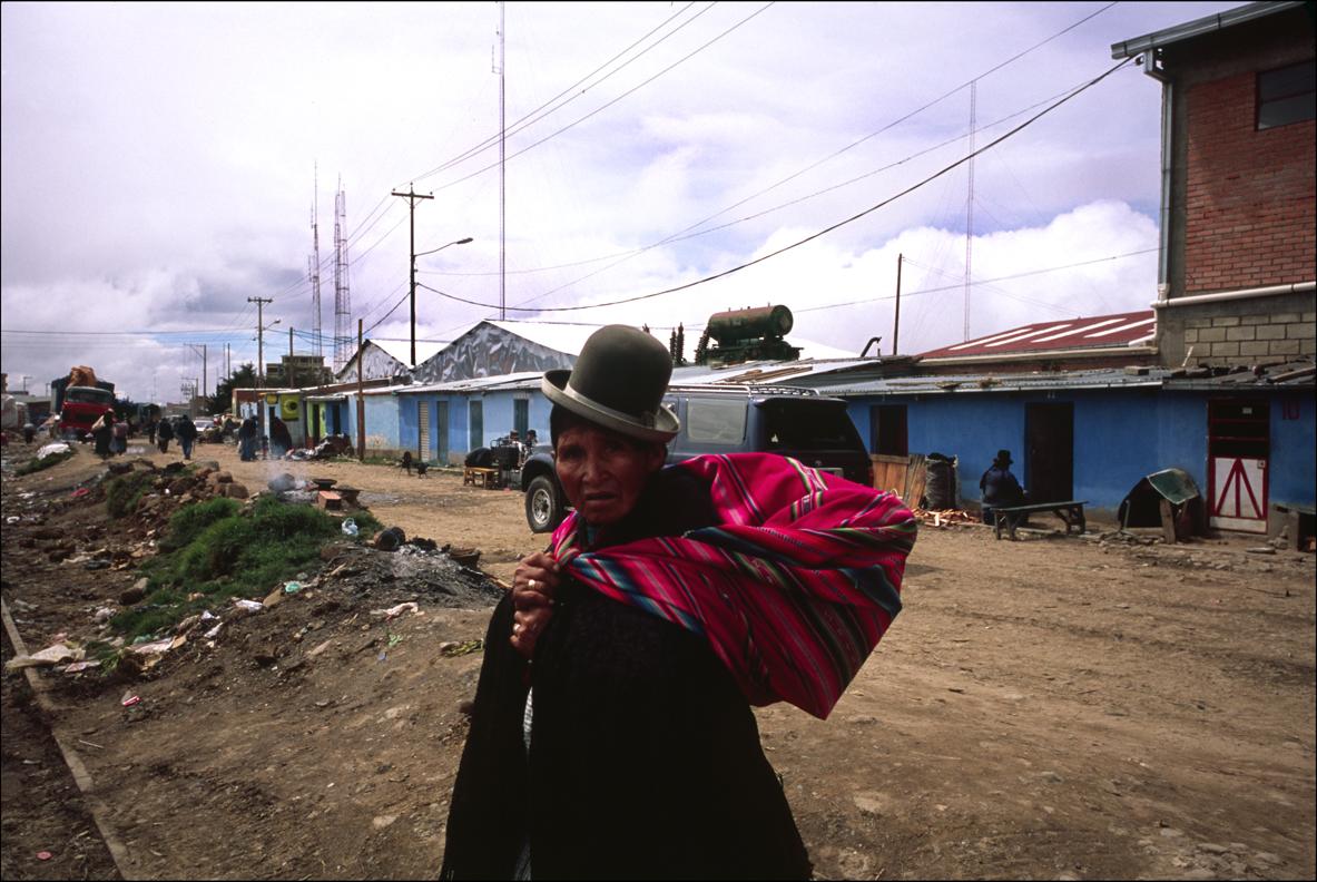 A local woman. La Paz, Bolivia.