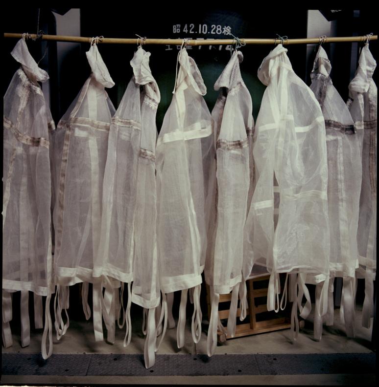Drying rice sacks