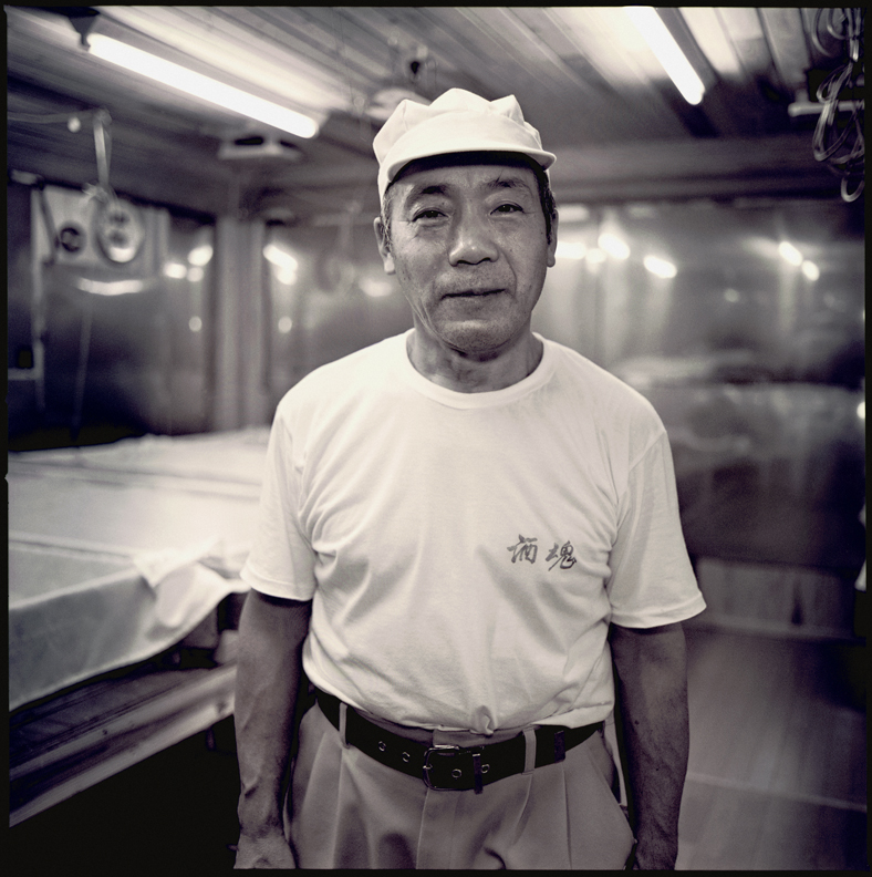 Ugaki Tomio is in charge of the Koji room. This year will be his 13th year at Tedorigawa brewery.