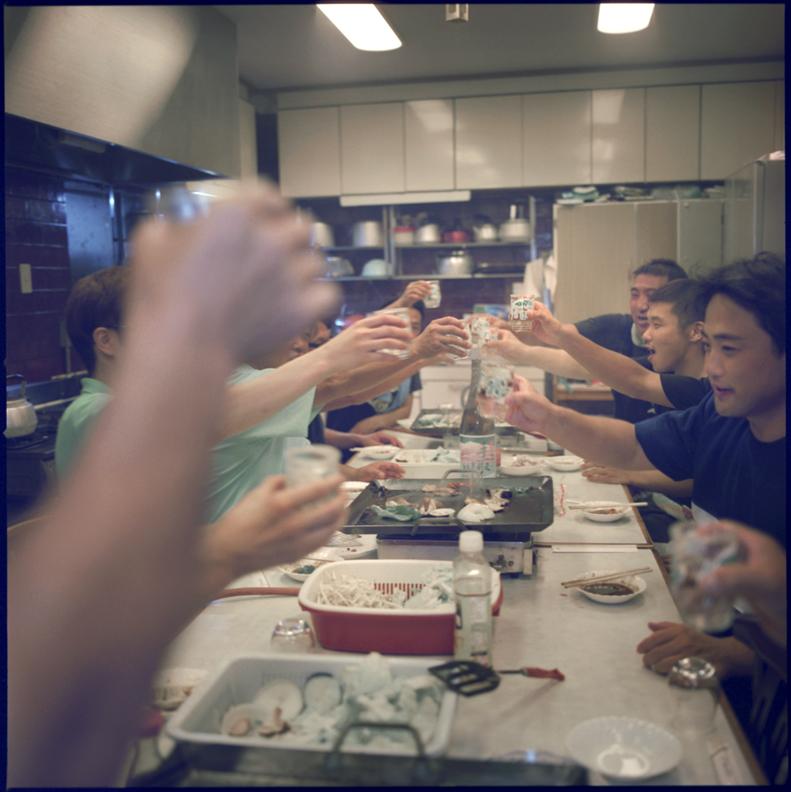 Toasting at the beginning of the sake season.