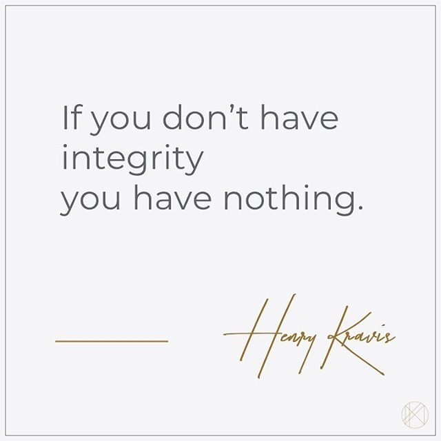 Nothing is more important than living your life with integrity, authenticity, and honesty. Take inventory of your actions every day, and choose to live and work with an honest heart. Without it, we are nothing 🖤 #wednesdaywisdom
