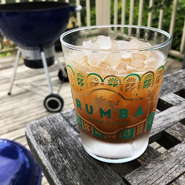 Memorial Day jet pilot and grilling. Hope everyone is having an equally great day! #memorialday #cocktails #rum #tiki #jetpilot #grilling #onthedeck