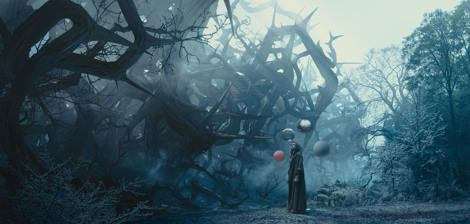 Estudo do autor diretamente sobre quadro do filme Maleficent
