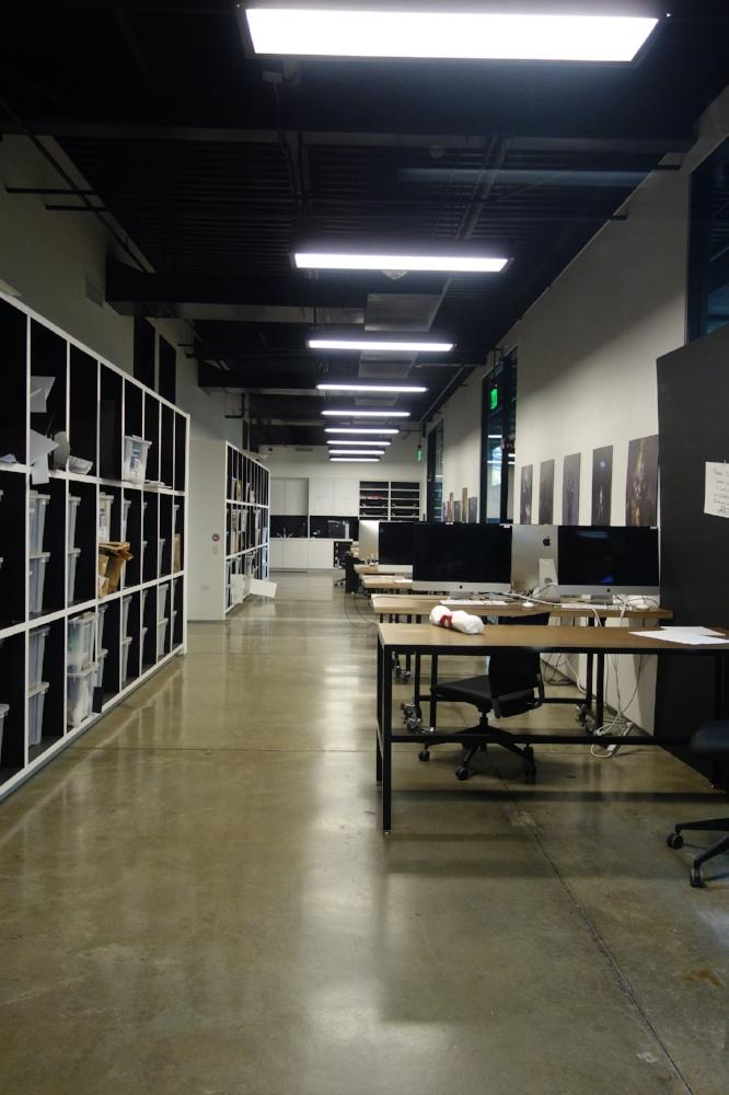 Sala de estudos do curso de Entertainment Design no Art Center College of Design