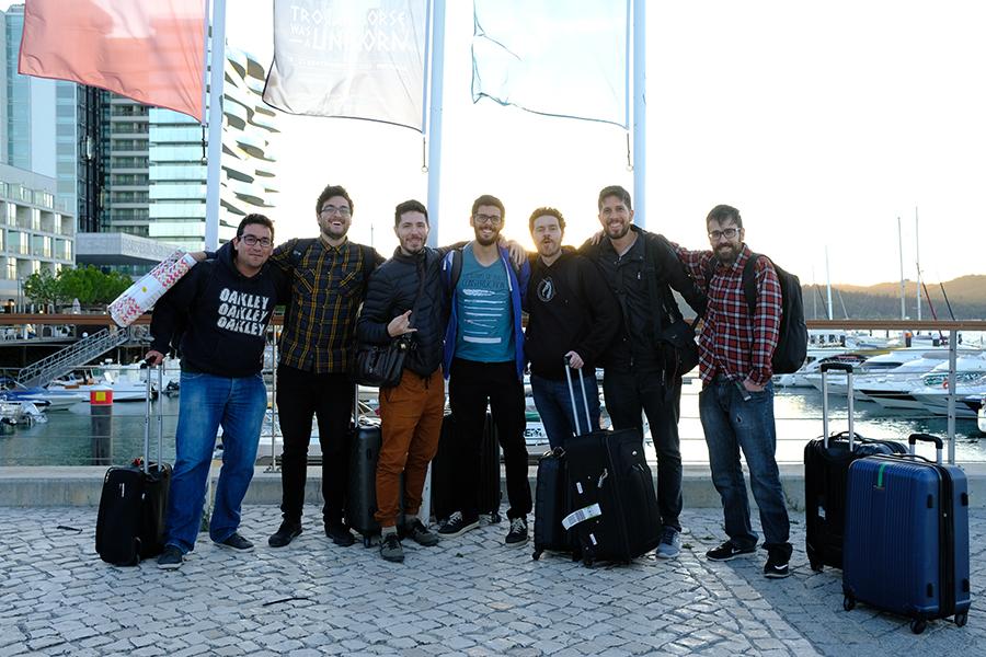 Foto por Daga (da esquerda para direita: eu, Cesar Rosolino, Allan Martin, Mike Azevedo, Filipe Pagliuso, Lucas Parolin e Rafael Zanchetin)
